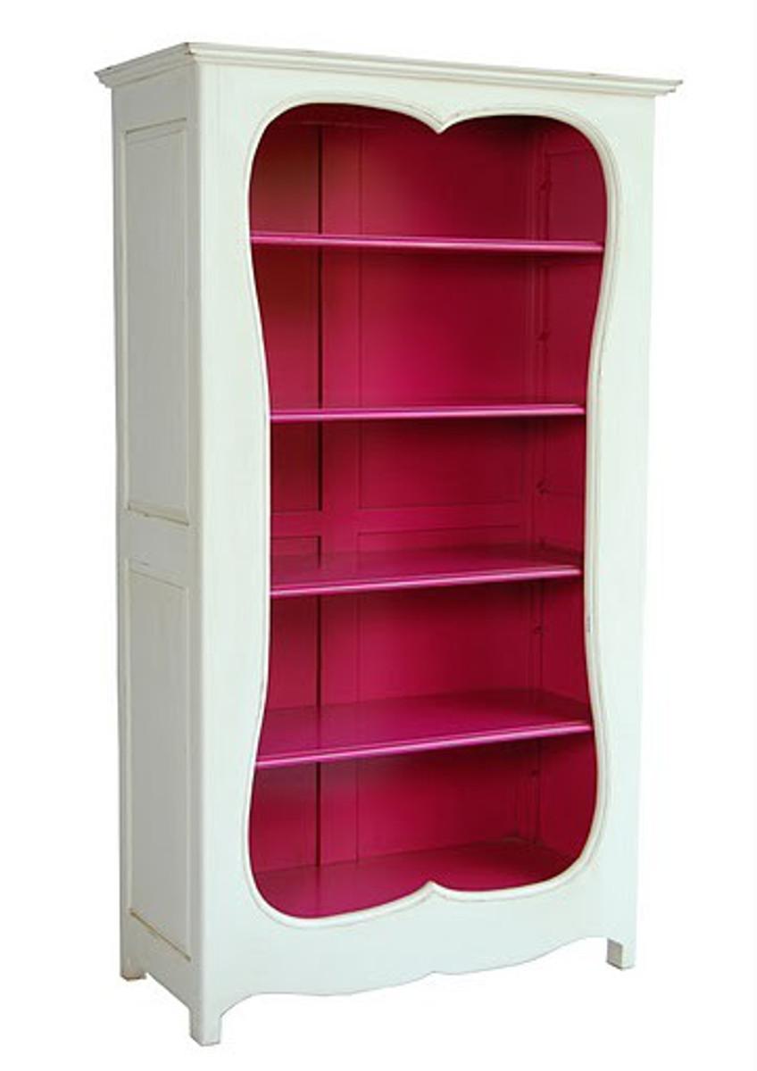 Casa Padrino Barock Bucherschrank Weiss Pink B 110 X H 185 Cm