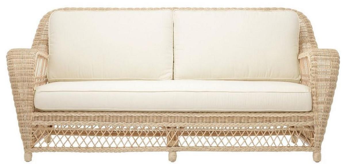 Casa Padrino Luxus Wohnzimmer Sofa mit Kissen Naturfarben ...