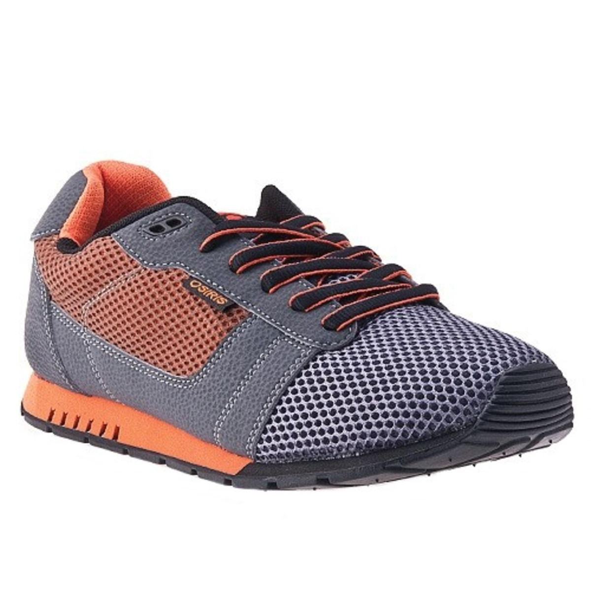 Osiris Skateboard Schuhe -- Retron-- Charcoal Orange schwarz