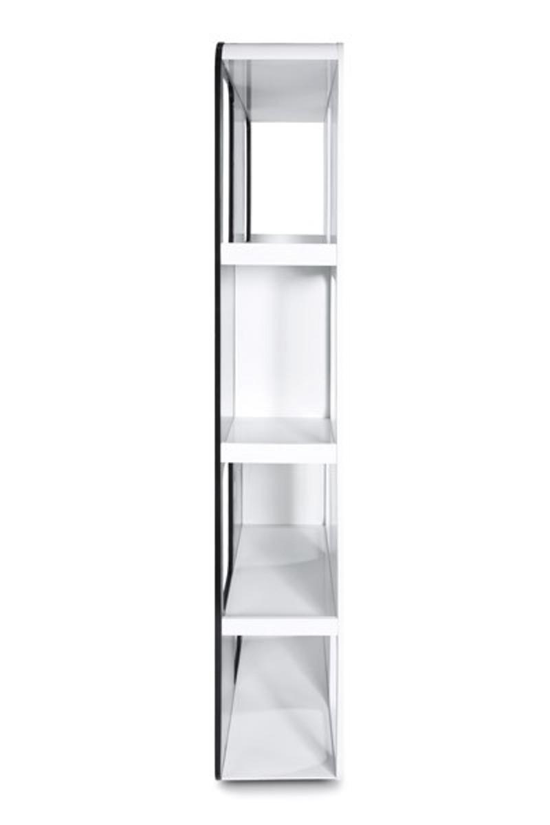 designer b cherregal aus lackiertem holz wei schwarz. Black Bedroom Furniture Sets. Home Design Ideas