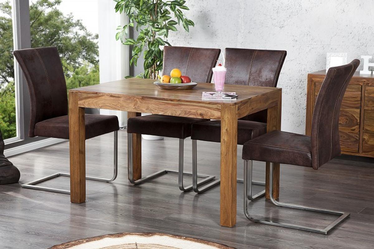 casa padrino massivholz esstisch sheesham holz 120 cm esszimmer tisch massiv kaufen bei. Black Bedroom Furniture Sets. Home Design Ideas