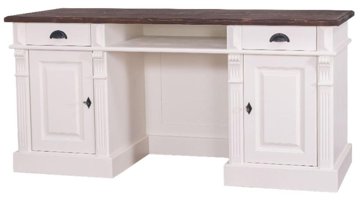 Casa Padrino Landhausstil Schreibtisch mit 2 Türen und 2 Schubladen ...