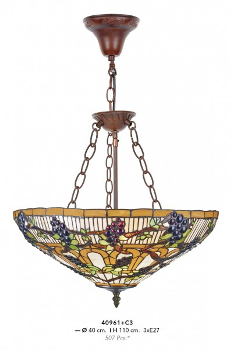 Bezaubernd Lampe 3 Flammig Referenz Von Casa Padrino Tiffany Hängeleuchte 40cm 3-flammig Leuchte