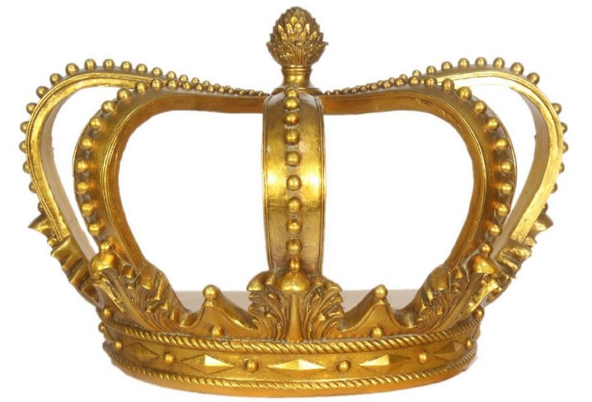 Casa Padrino Barock Deko Krone Gold 55 X 33 X H 38 Cm Deko Accessoires Im Barockstil Kaufen Bei Demotex Gmbh