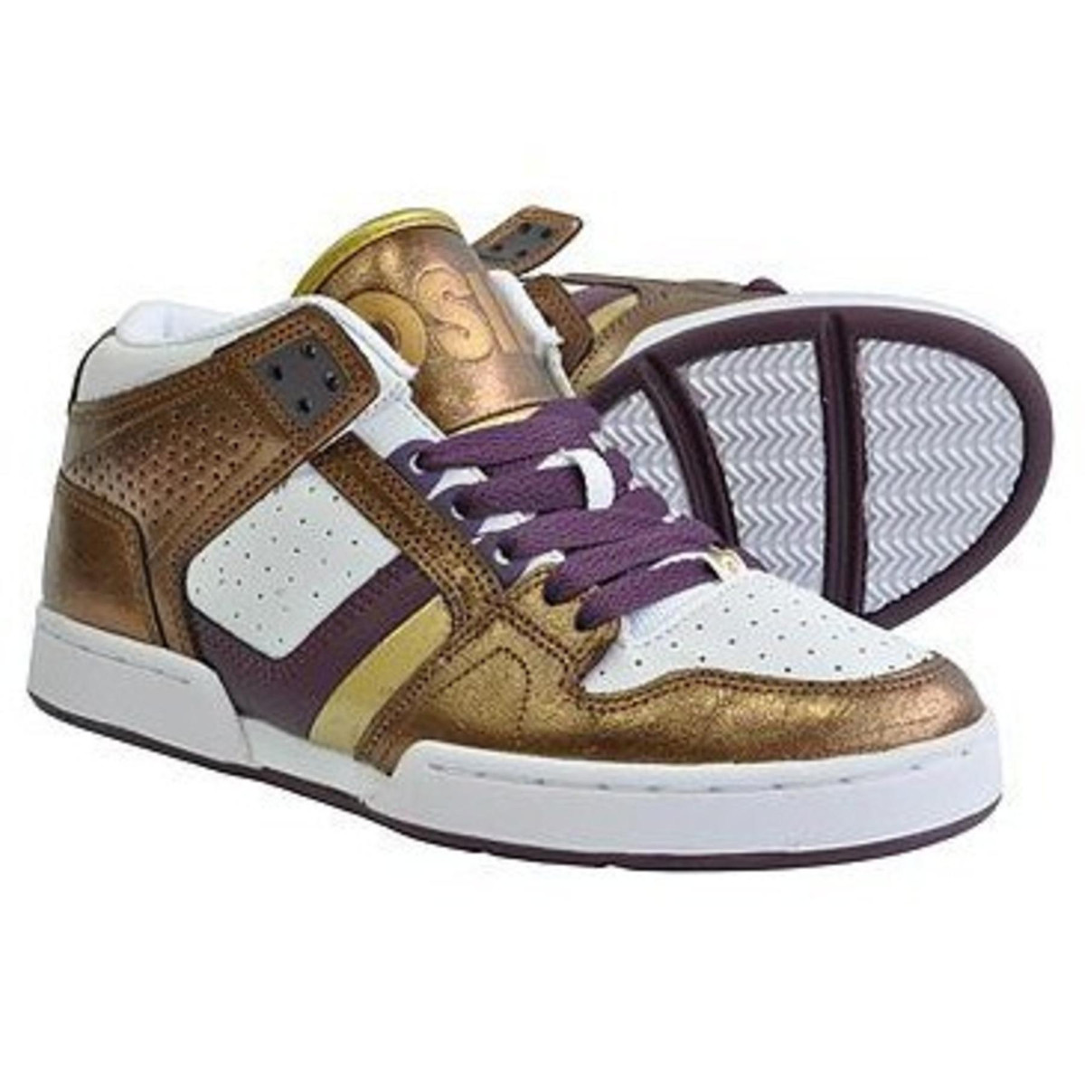 96804e840e6 Osiris Skateboard Schuhe South Bronx Girls Purple/White/Gold ...
