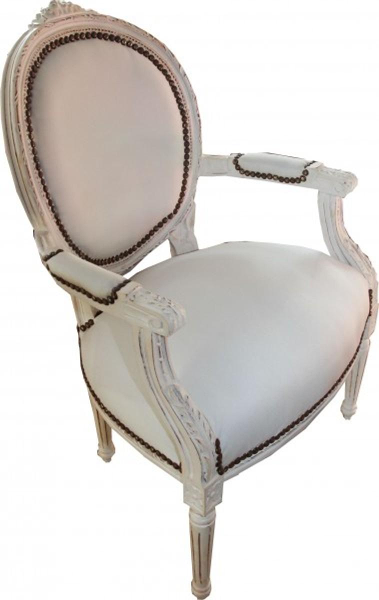 casa padrino barock salon stuhl antik stil creme weiss. Black Bedroom Furniture Sets. Home Design Ideas