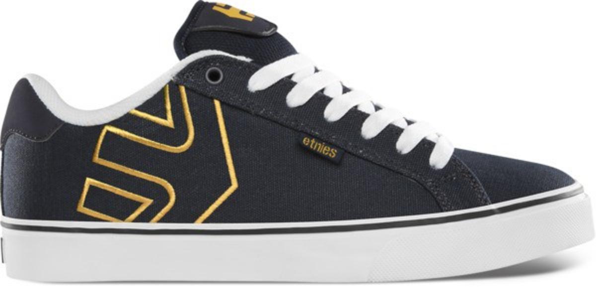 Etnies Skateboard Schuhe Fader Vulc NavyWhiteYellow Etnies Shoes