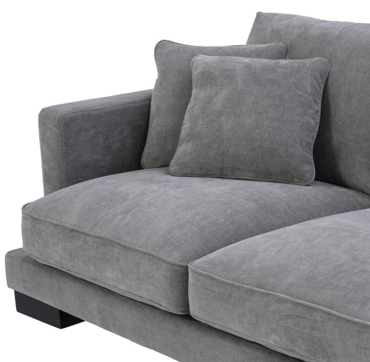 ... Casa Padrino Luxus Wohnzimmer Sofa Grau / Schwarz 284 X 110 X H. 85 Cm