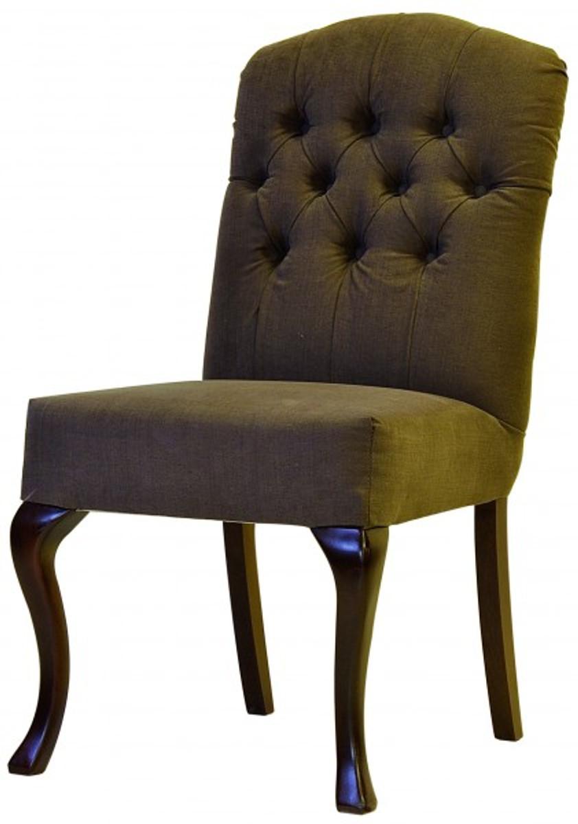 Casa Padrino Designer Esszimmer Stuhl Modef 197 Braun Braun