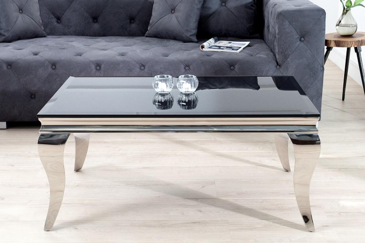 Casa padrino luxus couchtisch cm schwarz silber modern