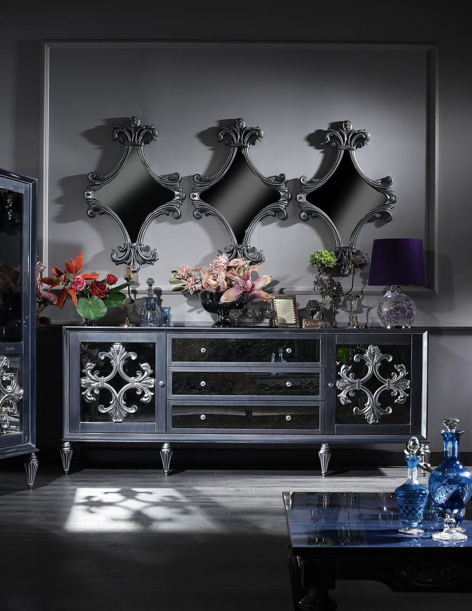 Kommode Silber Grau 2021