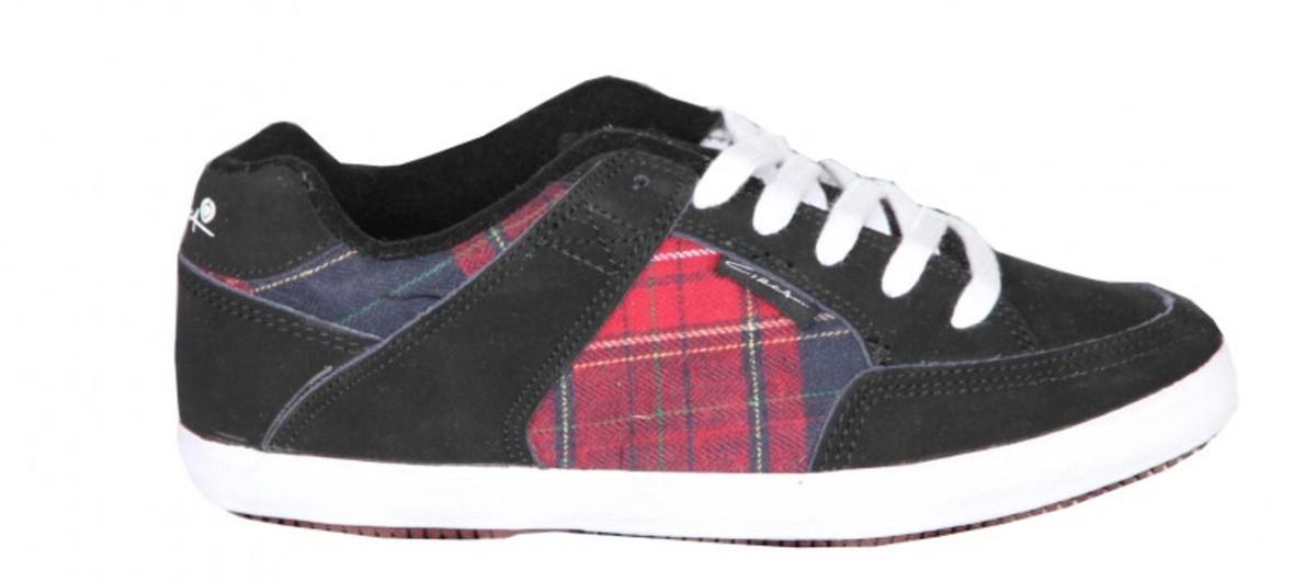 Circa Skateboard Damen Schuhe 205 Vulc schwarz rot Plaid Turnschuhe schuhe