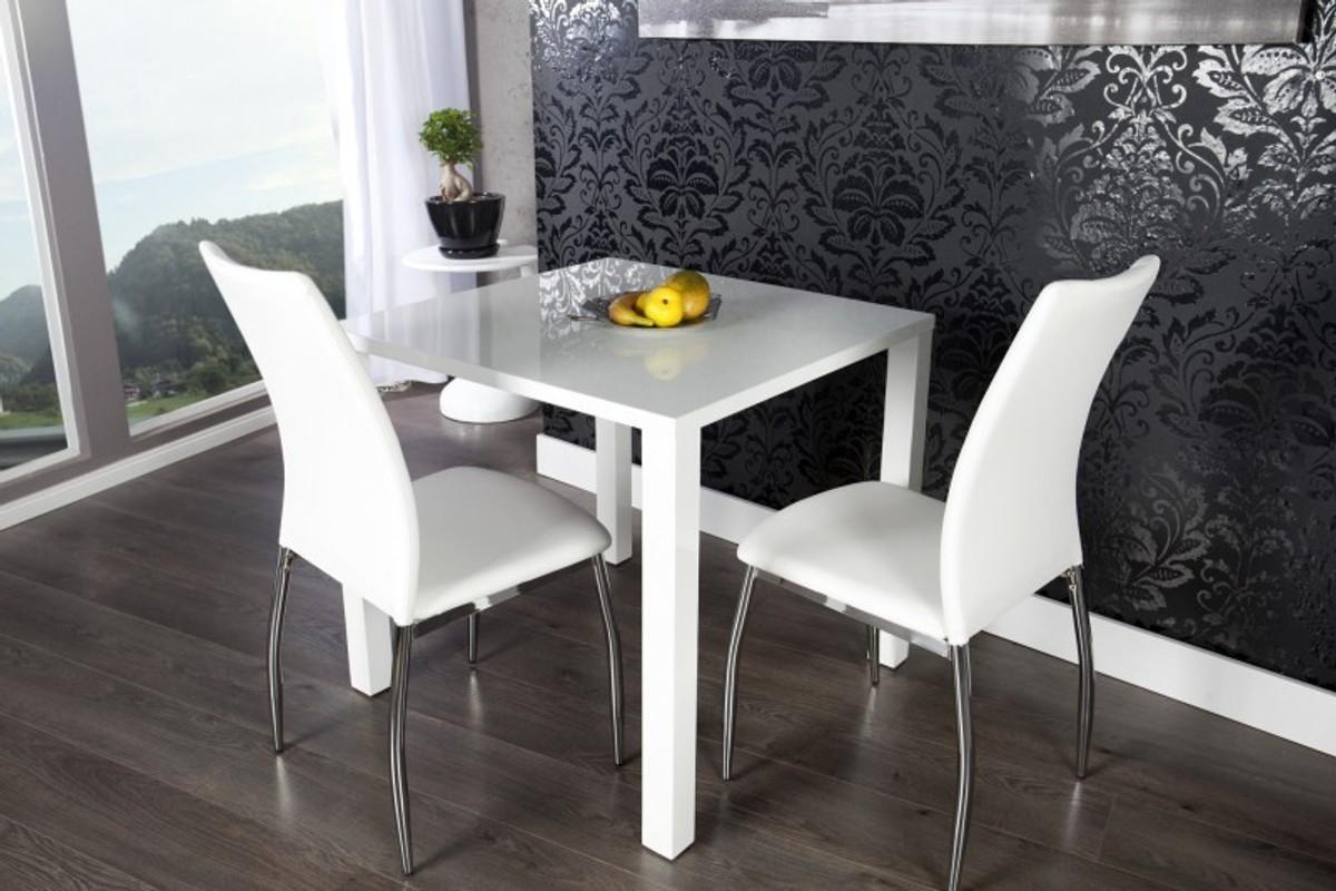 Moderner Design Esstisch Weiß Hochglanz 80 X 80 Cm Von Casa Padrino   Esszimmer  Tisch 1 ...