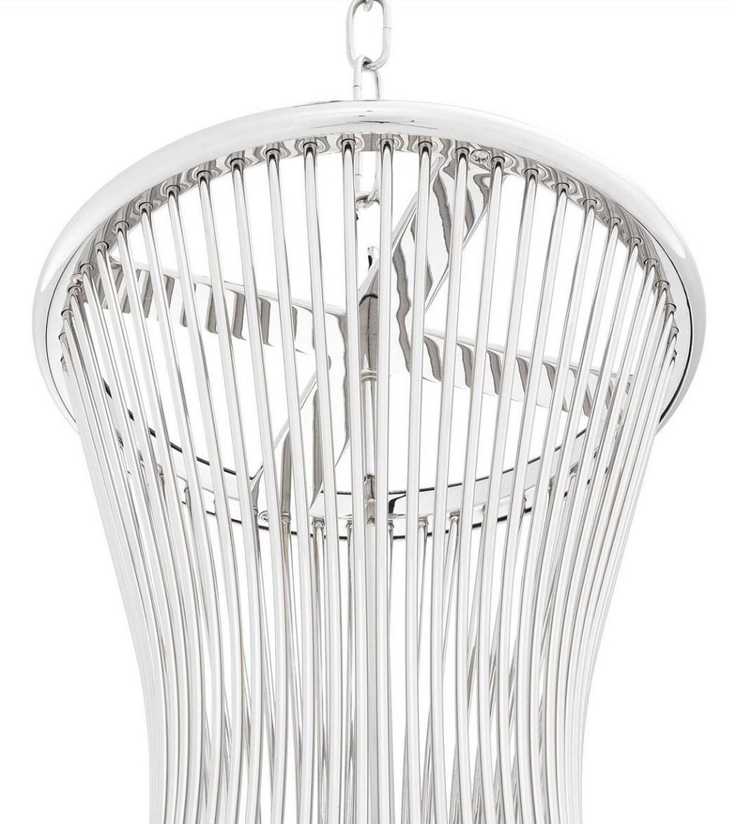 Casa Padrino Luxus Hängeleuchte Silber Ø 35 x H. 61, 5 cm ...