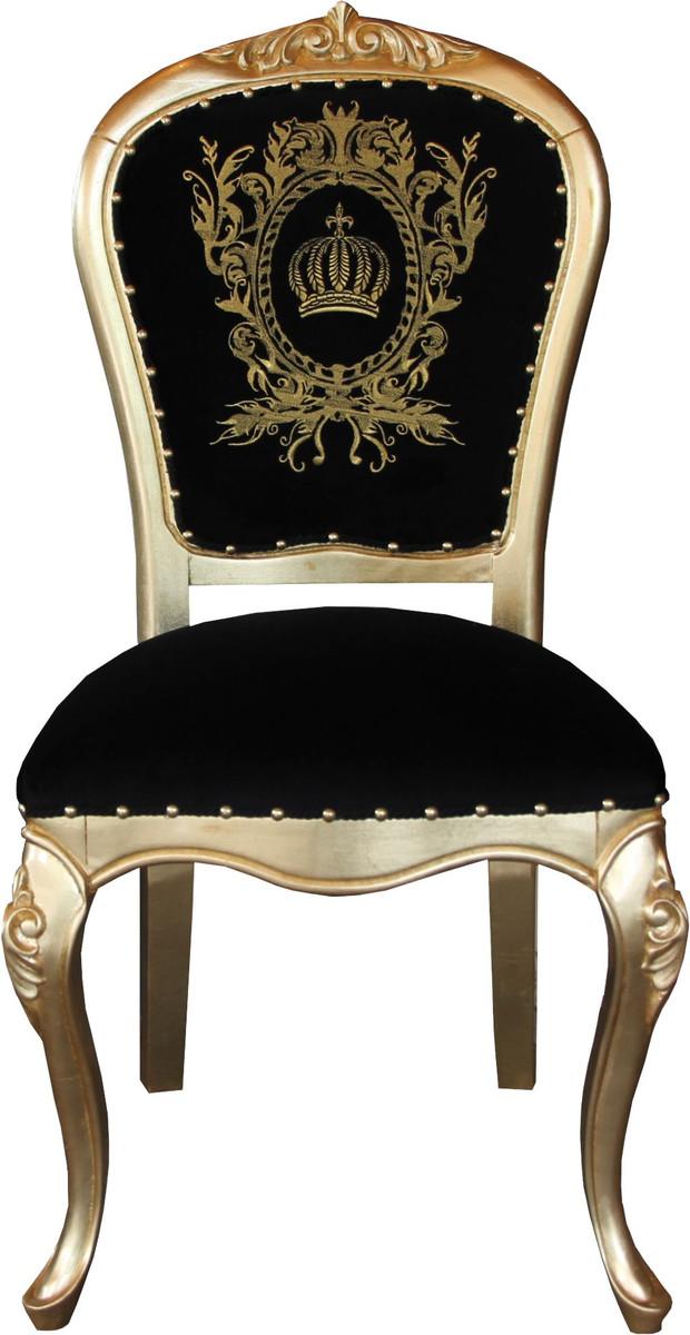 Pompoos By Casa Padrino Luxus Barock Esszimmer Stuhl Schwarz Gold