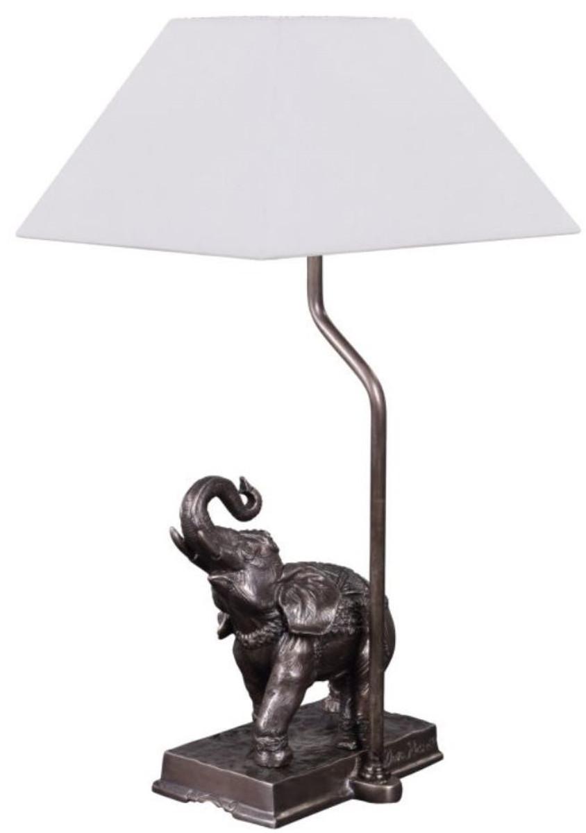 Casa Padrino Tischleuchte Elefant Bronze 35 X 29 X H 50 Cm Luxus