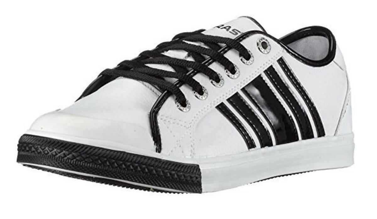 Boras Turnschuhe Schuhe Cora Weiß   schwarz   Gold - Turnschuhe Turnschuhe