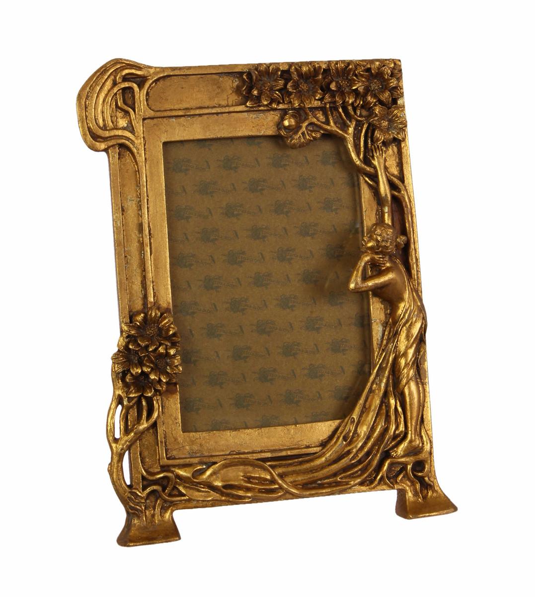Casa Padrino Jugendstil Bilderrahmen Gold Antik Stil 18.9 x 25.4 cm ...