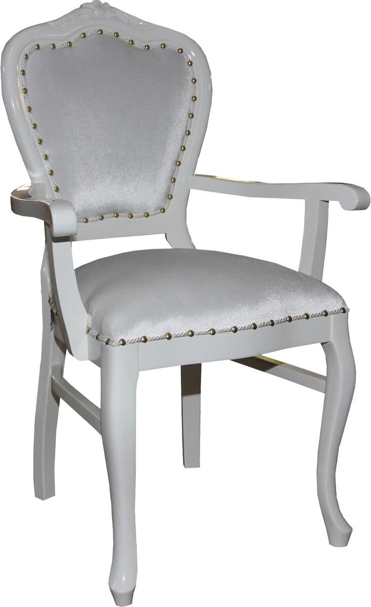 Casa Padrino Barock Luxus Damen Stuhl Mit Armlehnen Weiss Weiss Damen Schminktisch Stuhl Limited Edition Kaufen Bei Demotex Gmbh