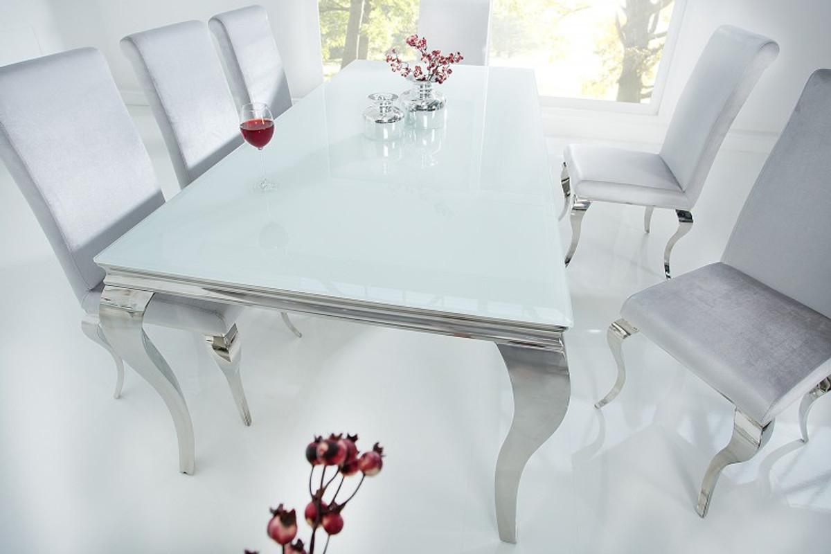 Casa padrino designer esstisch cm weiss silber modern