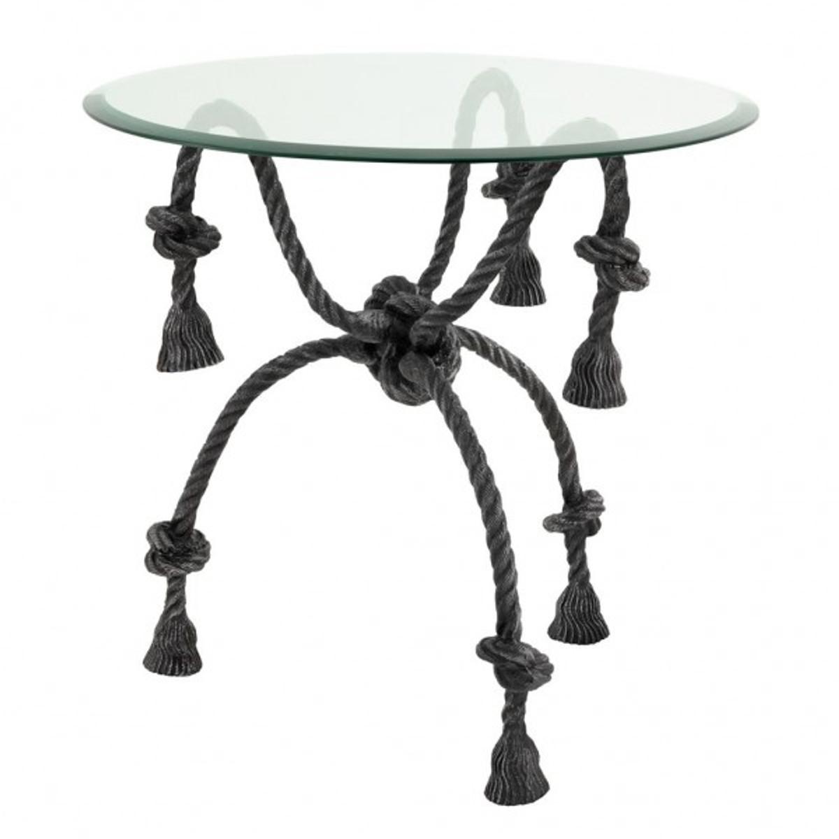 Bezaubernd Beistelltisch Metall Glas Dekoration Von Casa Padrino / Eil Optik - Tisch
