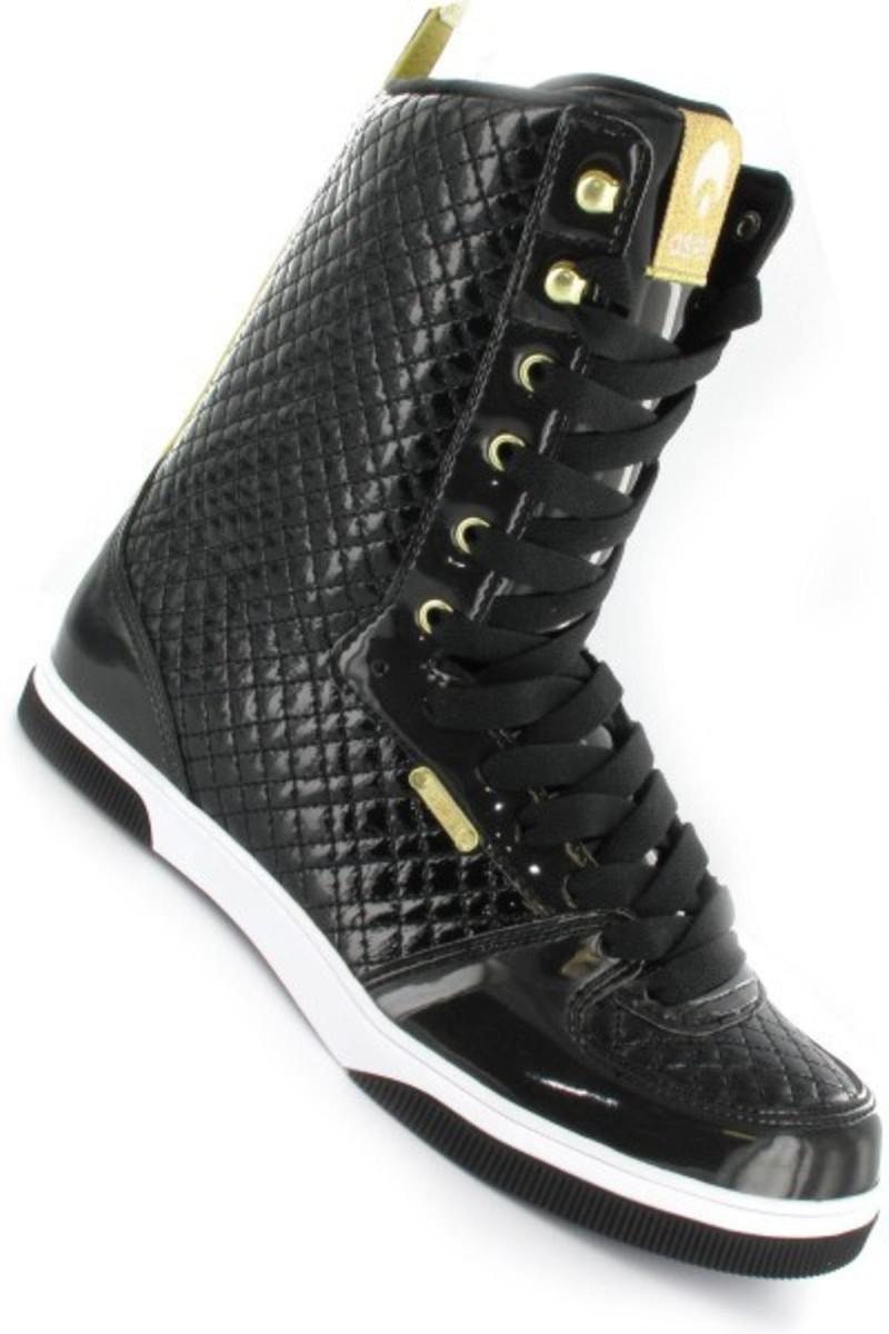 Osiris Uptown Ltd Girls Stiefel schwarz Gold Quilted - Snowboard Stiefel Stiefel Skateboard Schuhe