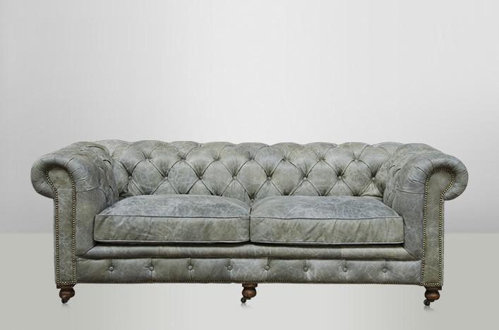 chesterfield luxus echt leder sofa 2 5 seater vintage. Black Bedroom Furniture Sets. Home Design Ideas