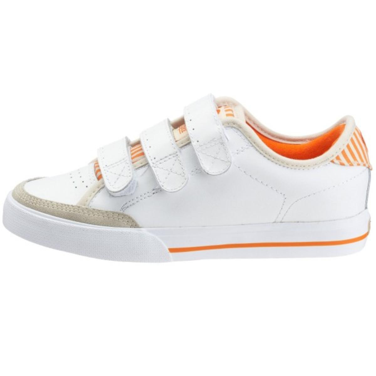 Circa Skateboard Schuhe-ALW50V-- Weiß Orange Cream Stripes