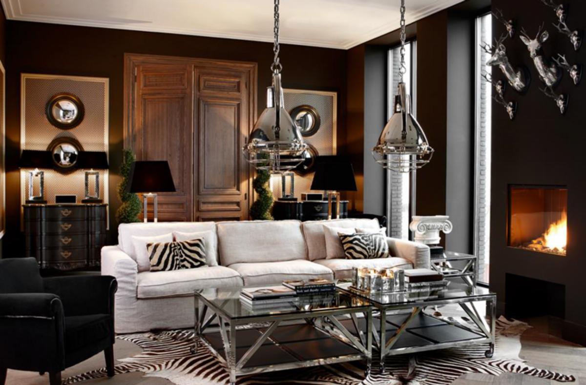 Casa Padrino Luxus Art Deco Designer Couchtisch 100 x 100 x H. 50 cm -  Wohnzimmer Salon Tisch - Luxus Hotel Kaffeetisch