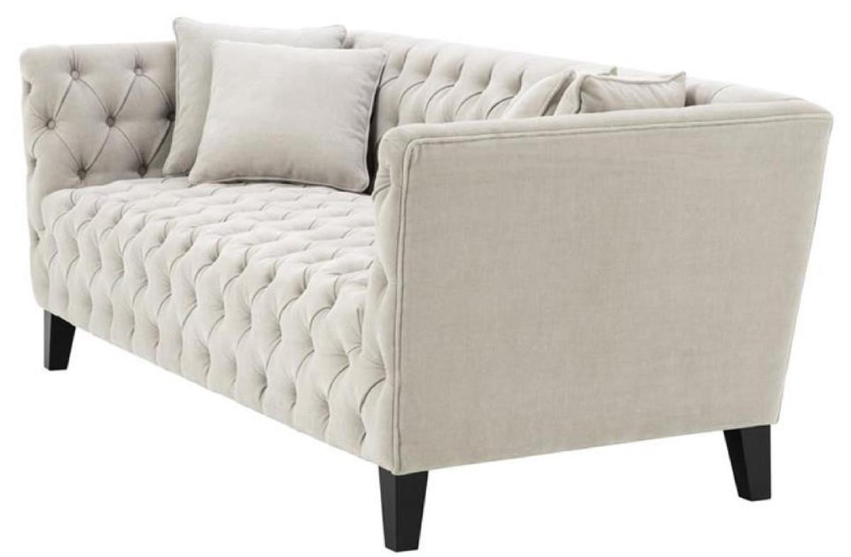 Casa Padrino Luxus Chesterfield Wohnzimmer Sofa mit 4 ...