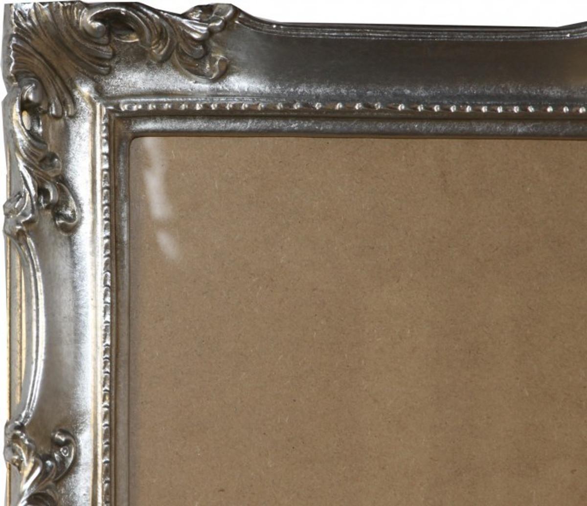 casa padrino barock holz bilderrahmen 144 x 84 cm silber gro er bilder rahmen foto rahmen. Black Bedroom Furniture Sets. Home Design Ideas