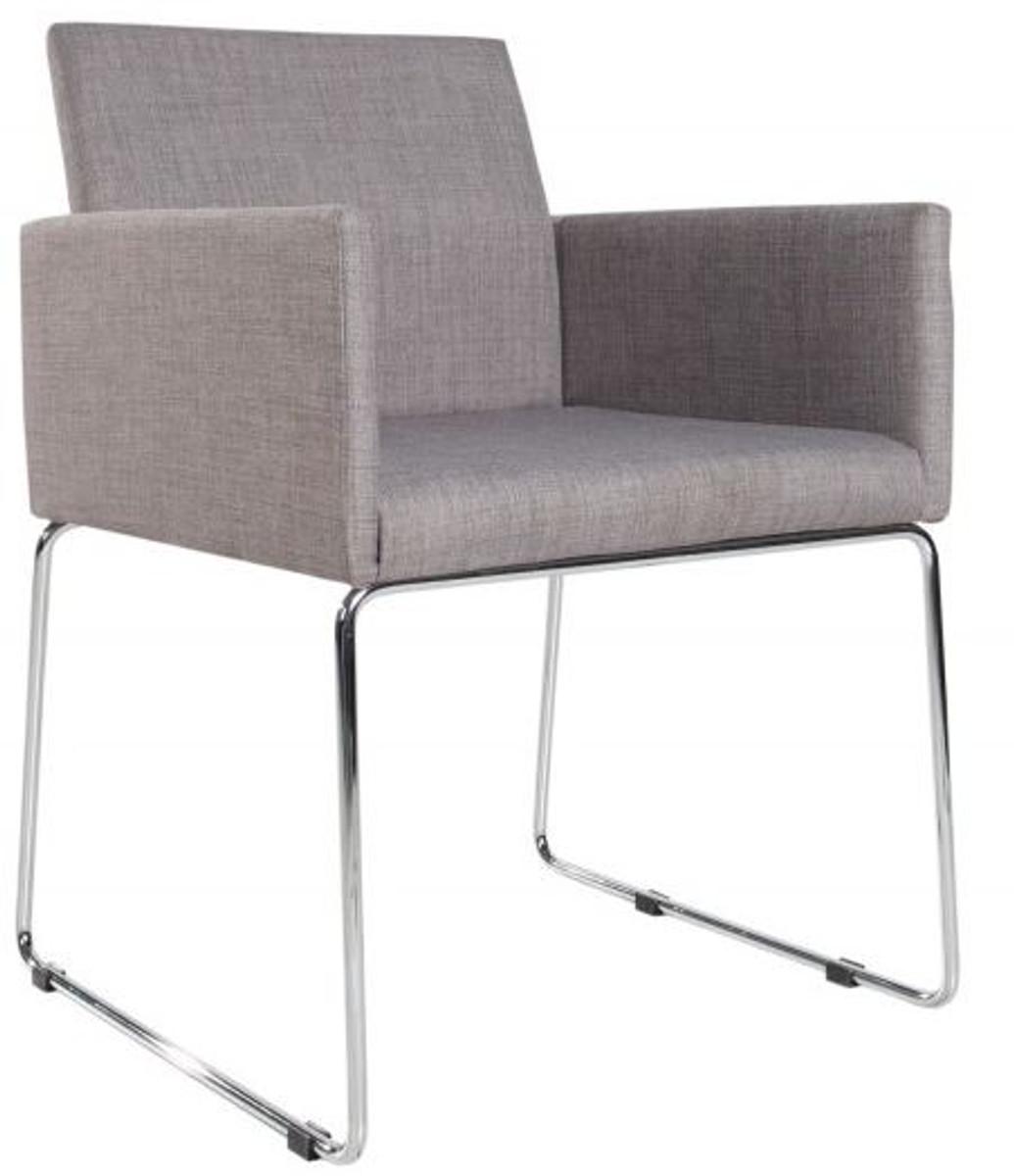casa padrino designer stuhl mit armlehnen grau 55cm x 80cm x 60cm b rom bel kaufen bei. Black Bedroom Furniture Sets. Home Design Ideas