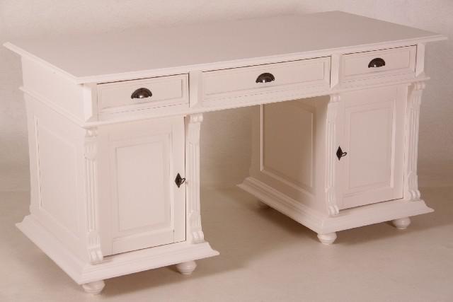 casa padrino schreibtisch kiefer massiv england creme englischer schreibtisch antik stil. Black Bedroom Furniture Sets. Home Design Ideas