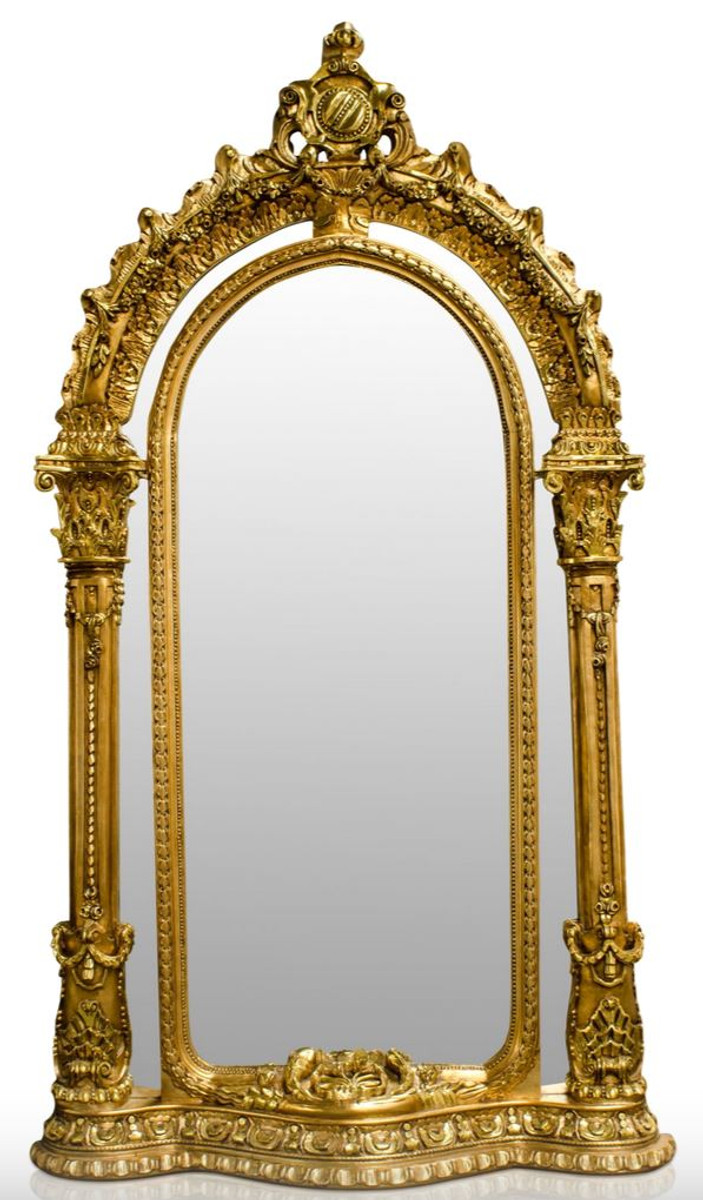 Pompöös by Casa Padrino Barock Standspiegel Gold 134 x H. 257 cm ...