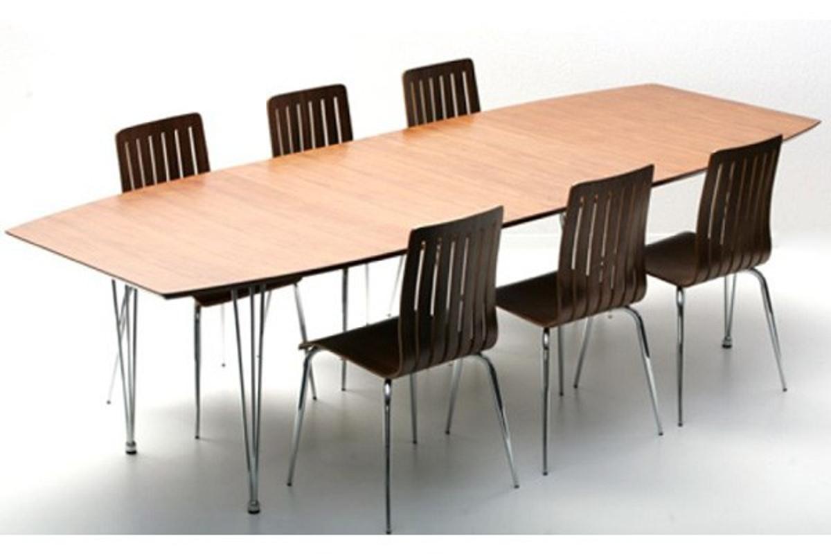Casa padrino designer konferenztisch nussbaum chrom for Nussbaum tisch