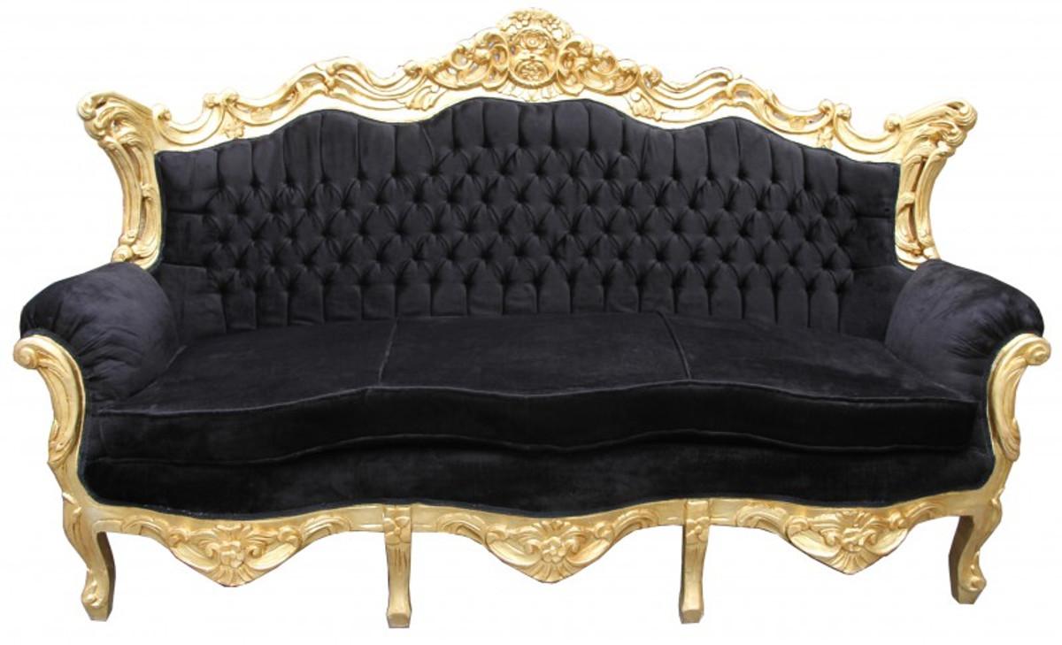 Gut Casa Padrino Barock 3er Sofa Master Schwarz / Gold   Wohnzimmer Couch Möbel  Lounge