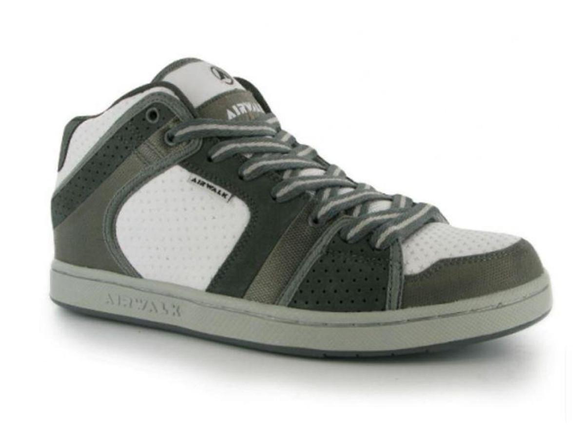 Airwalk Skateboard Schuhe Brian Mid Junior WhiteGreySilver Sneaker Skate Shoes