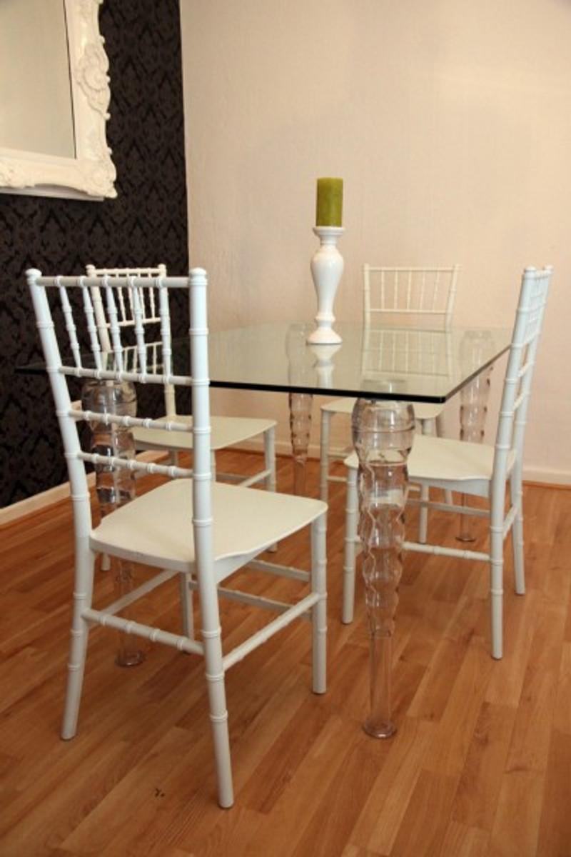 Designer Acryl Esszimmer Set   Ghost Chair Table   Polycarbonat Möbel   1  Tisch + 4 ...