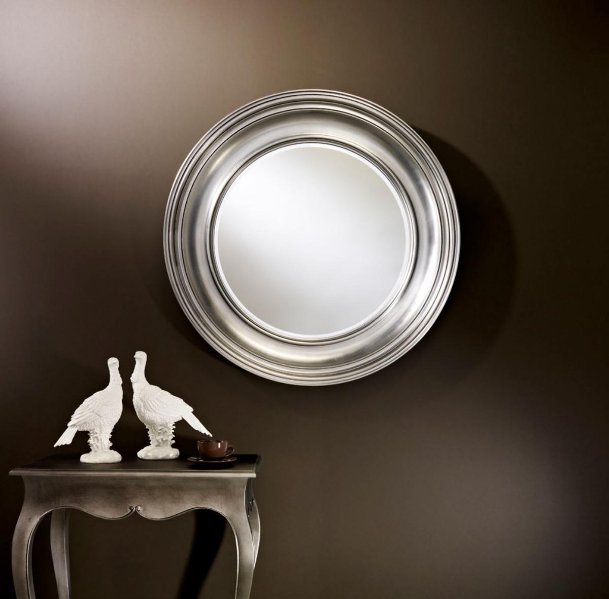 casa padrino luxus wohnzimmer spiegel silber Ø 102 cm