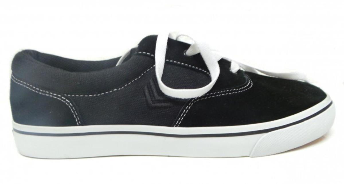 Vox Skateboard Schuhe Trooper schwarz Weiß schwarz Weiß