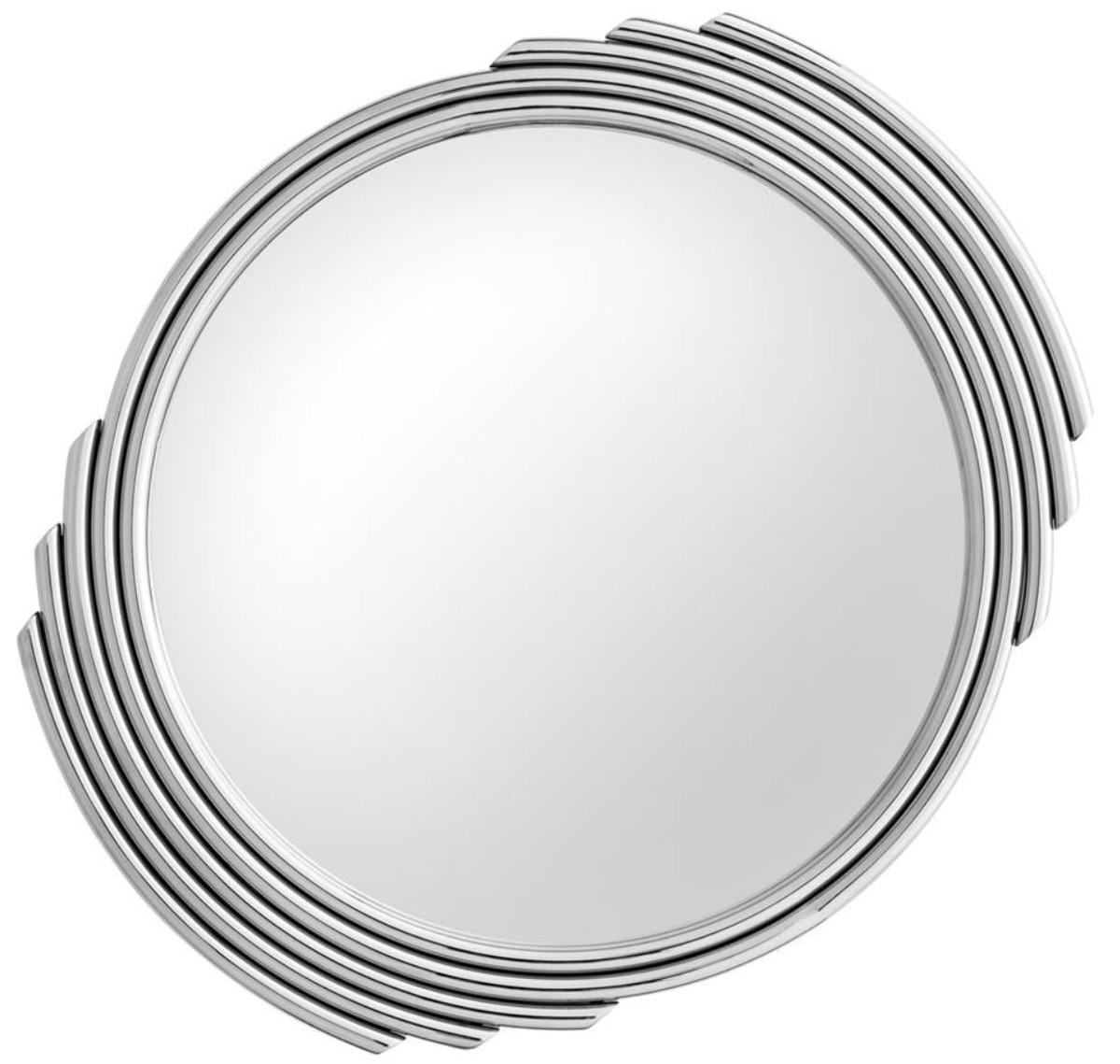 Casa Padrino Designer Edelstahl Spiegel Silber O 100 Cm Luxus