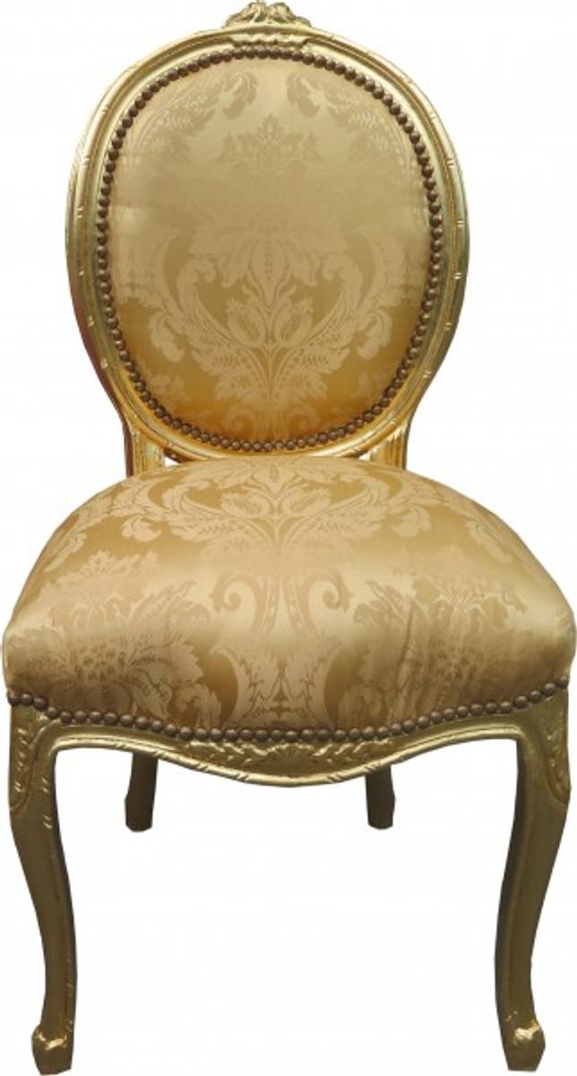 Barock Esszimmer Stuhl #19: Casa Padrino Barock Esszimmer Stuhl Medallion Gold Blumenmuster / Gold -  Barock Möbel - Limited Edition ...