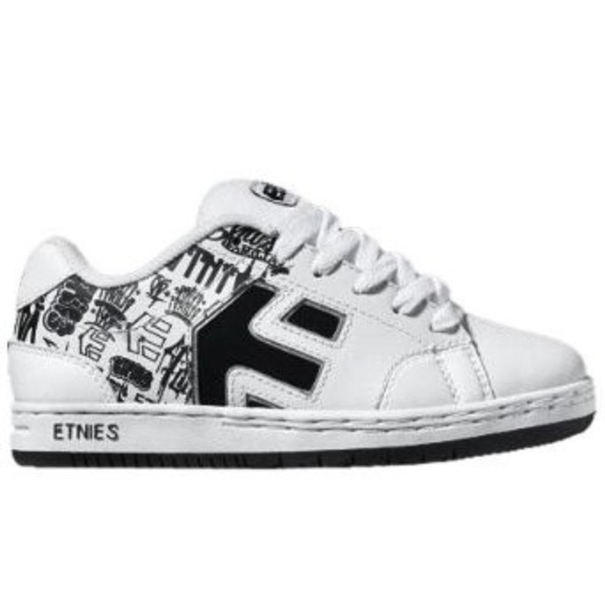 Etnies Skateboard Schuhe Cinch Boy´s Weiß schwarz Print