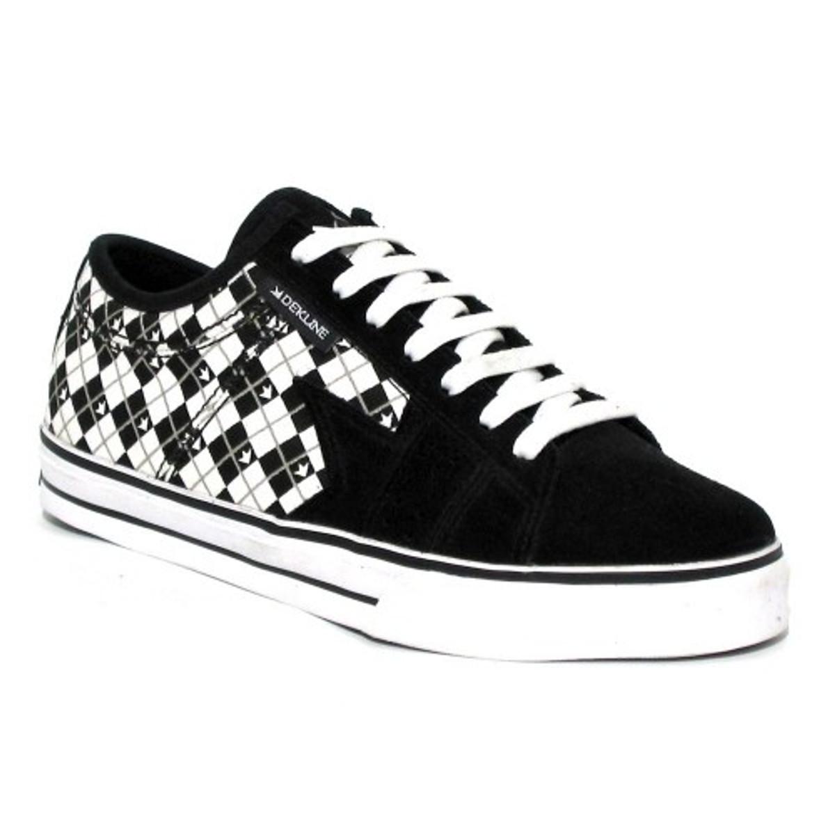 Dekline Skateboard Schuhe Villain Weiß schwarz
