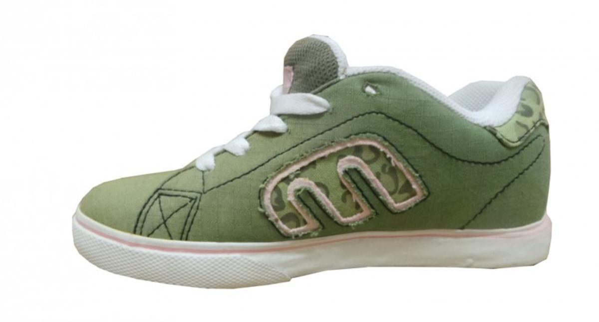Etnies Skateboard Schuhe Calli Vulc OliveWhite