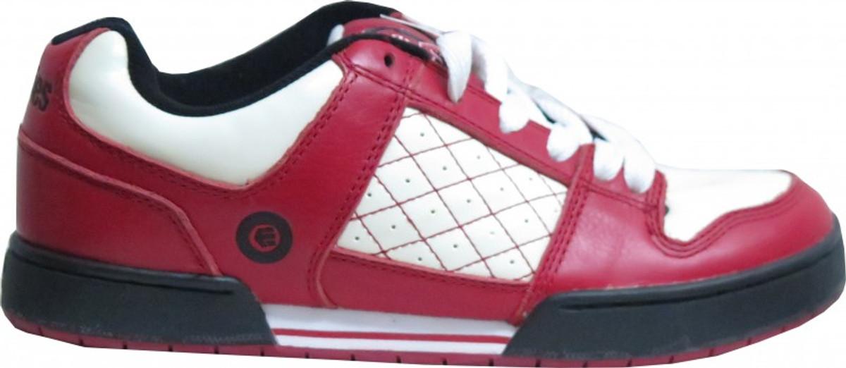 Etnies Skateboard Schuhe Bastien E-Collection rot Weiß schwarz rot Weiß schwarz