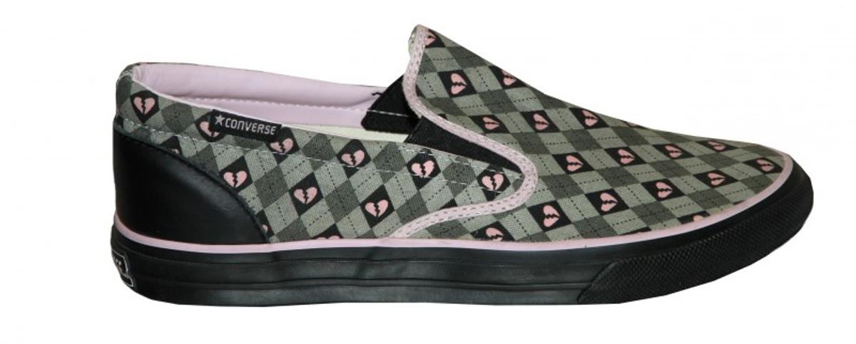 Converse Skateboard Schuhe Skid grip Ev Slip grau  schwarz   Rosa
