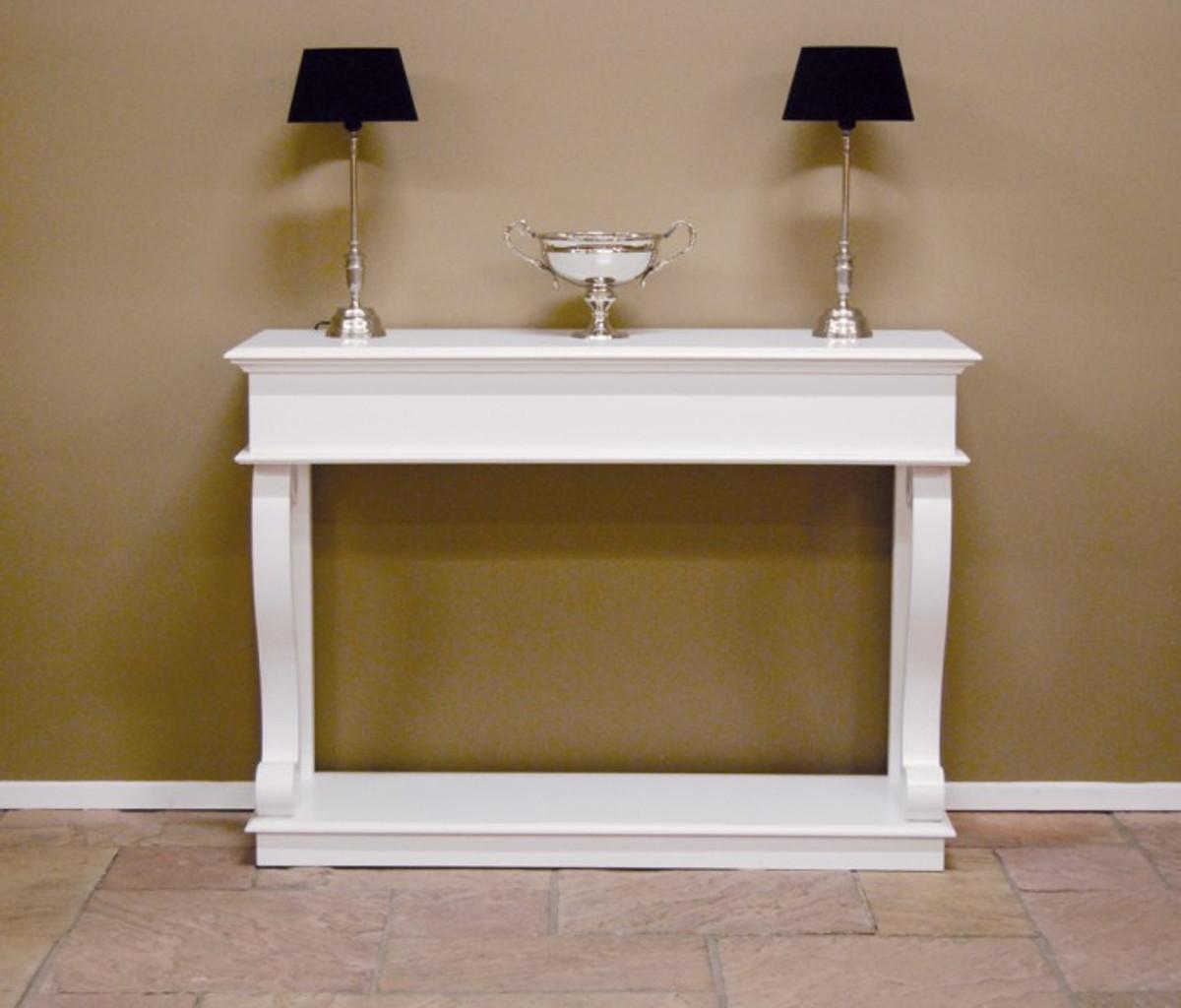 casa padrino barock konsole weiss konsolentisch sideboard 140 x 100 x 45 cm kaufen bei. Black Bedroom Furniture Sets. Home Design Ideas