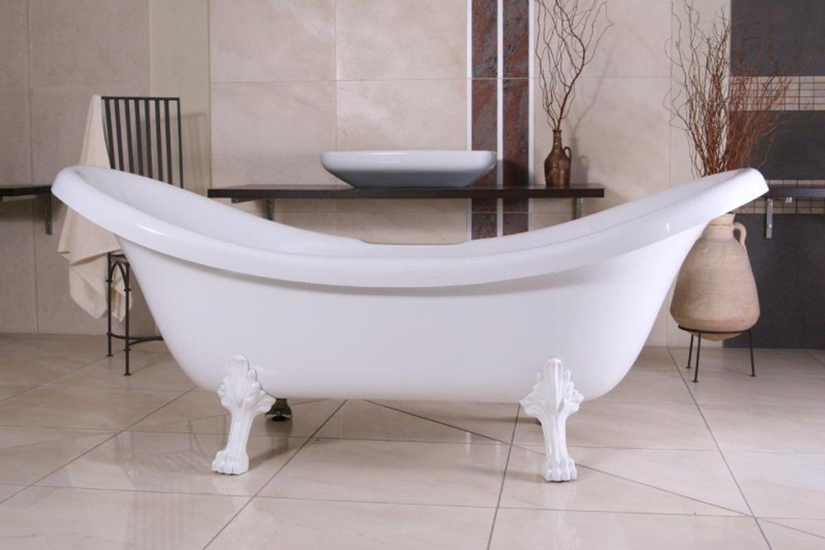 Freistehende Luxus Badewanne Jugendstil Venedig Weiß/Weiß 2020 mm ...