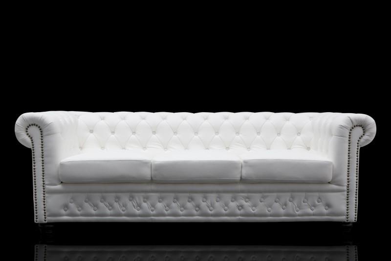 casa padrino chesterfield 3er sofa weiss wohnzimmer couch m bel kaufen bei demotex gmbh. Black Bedroom Furniture Sets. Home Design Ideas